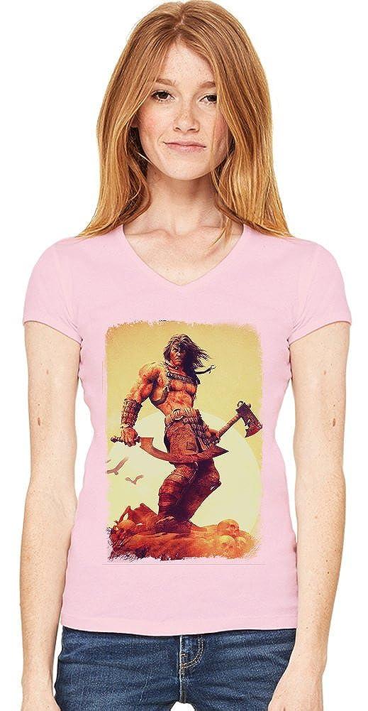 Conan Warrior de las mujeres V-cuello de la camiseta XX ...