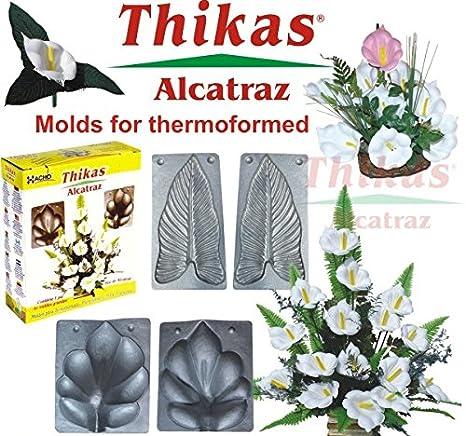 MOLDES PARA FLORES DE TERMOFORMADO THIKAS ALCATRAZ (CALA) SET DE 2: Amazon.es: Hogar