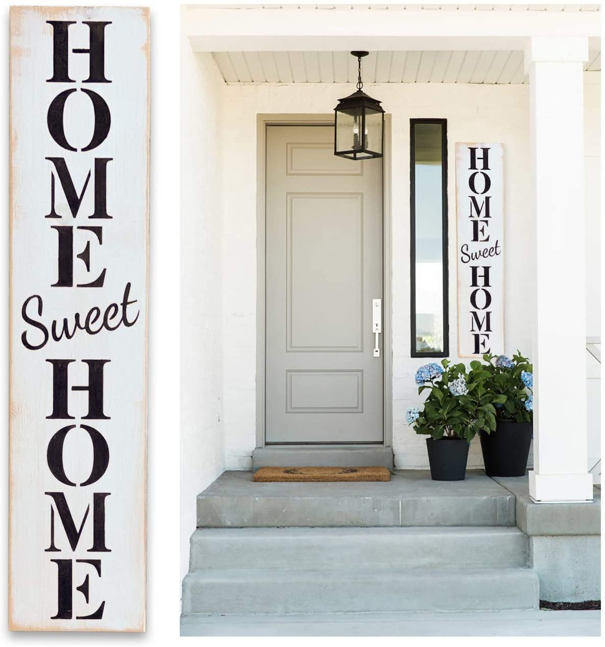 Porch Welcome Sign Tall - Outdoor Welcome Signs for Porch - Home Sweet Home - 42