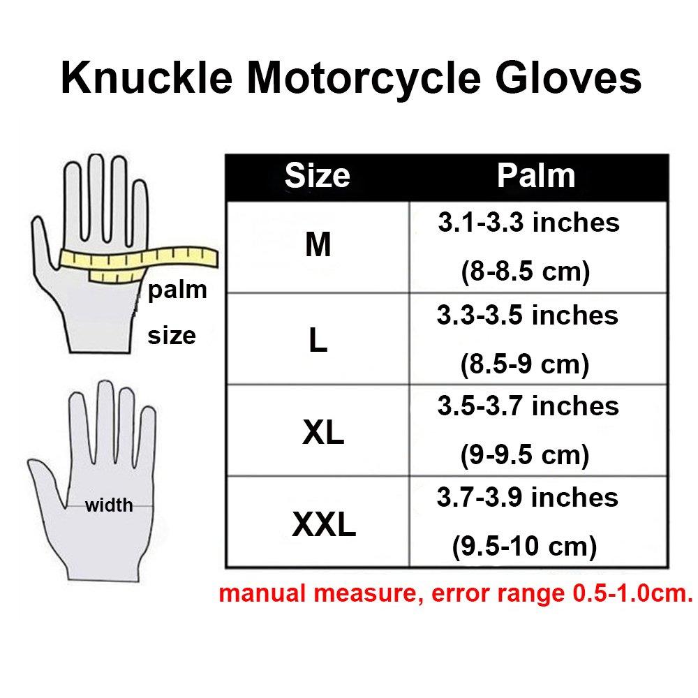 Alloy Steel Bicycle Motorcycle Motorbike Powersports Racing Gloves (X-Large) by AV SUPPLY (Image #3)