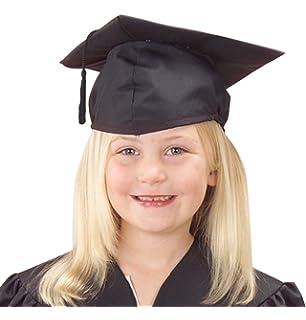 U.S. Toy Children s Child Size Adjustable Elastic Band Black Graduation Cap  Hat with Tassel 306eff3d82e
