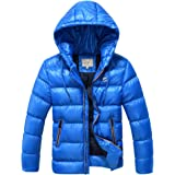SXSHUN Niños Chaqueta de Nieve para Invierno Boys' Snow Jacket Abrigo Acolchado con Capucha para Chicos