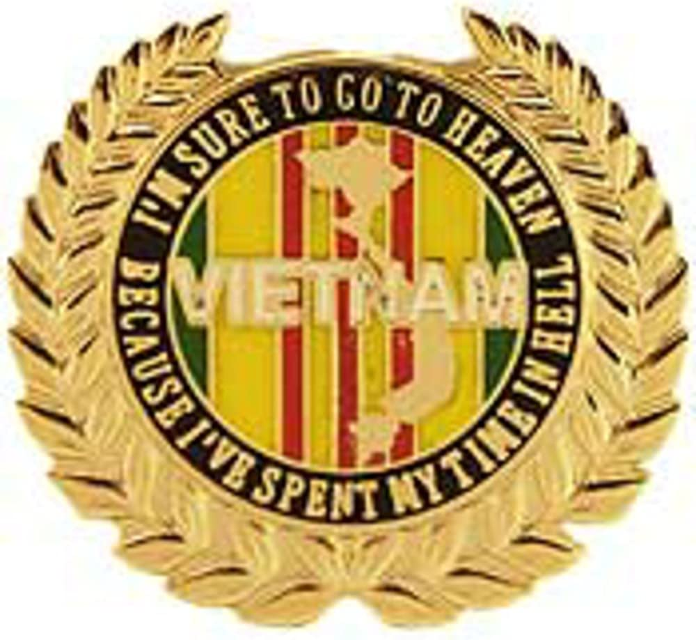 I/'m Sure To Go To Heaven Vietnam Pin