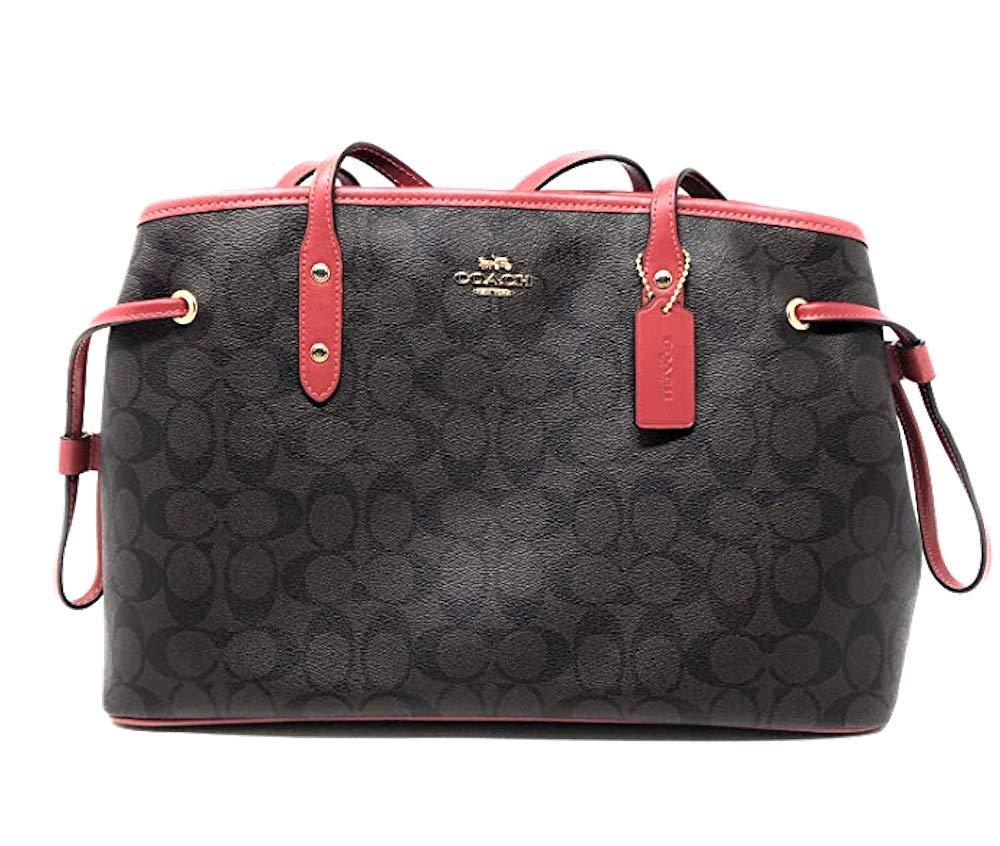 50a069d4b Coach Signature F57842 - Bolso bandolera con cordón, Marrón (Brown Coral),  M: Amazon.com.mx: Ropa, Zapatos y Accesorios