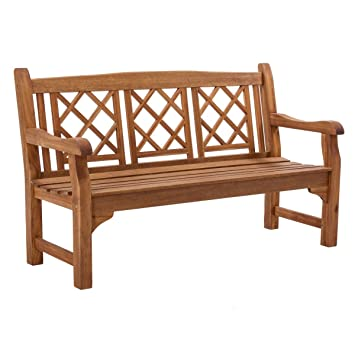 Gartenbank 3 Sitzer Akazie Massiv Holz Natur Geölt 150 Cm