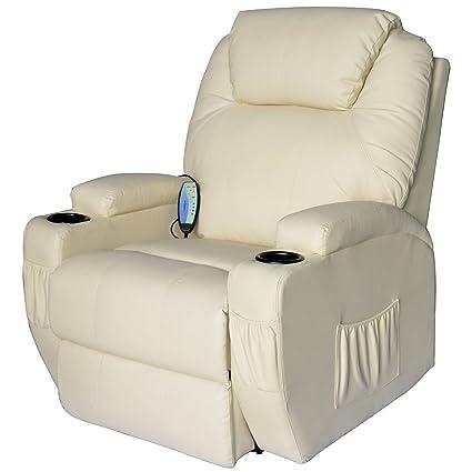 Outsunny - Poltrona Relax Massaggio Reclinabile a 8 punti poltrona ...