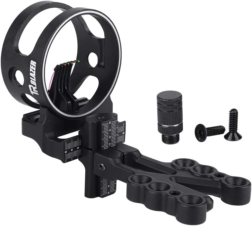 MLMLH Bow Sight 5 Pin Bow Sight with Light Shoot Sighting Device for Compound Bows Archery Archery Sport Alloy Accessory