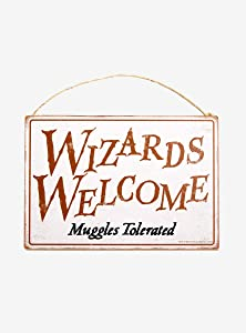 Hot Topic Harry Potter Wizards Welcome Door Sign