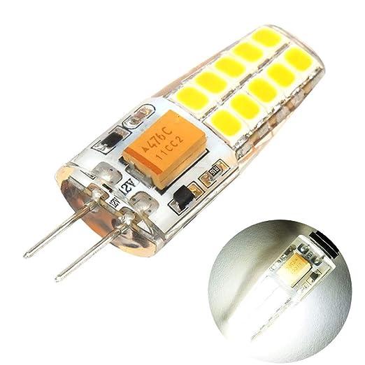 Bombillas LED G4 de 3 W Cápsula AC/DC 12 V luz blanca cálida ...