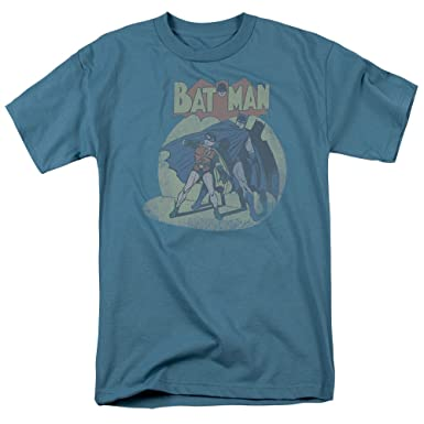 3bfbf10e Batman And Robin T-shirt - In The Spotlight DC Comics Adult Slate, Small