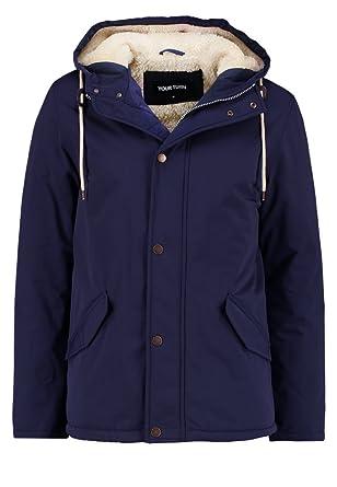 YOURTURN Herren Übergangsjacke in Schwarz, Oliv oder Blau - leicht  gefütterte Jacke mit Teddyfell - Parka mit Kapuze und Innentasche mit  Kunstlederdetails ... 9a072171d4