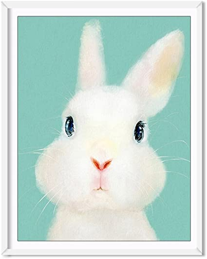 Fun Gift Home Art Wall Decor Rabbits Oil Painting Picture Printed On Canvas