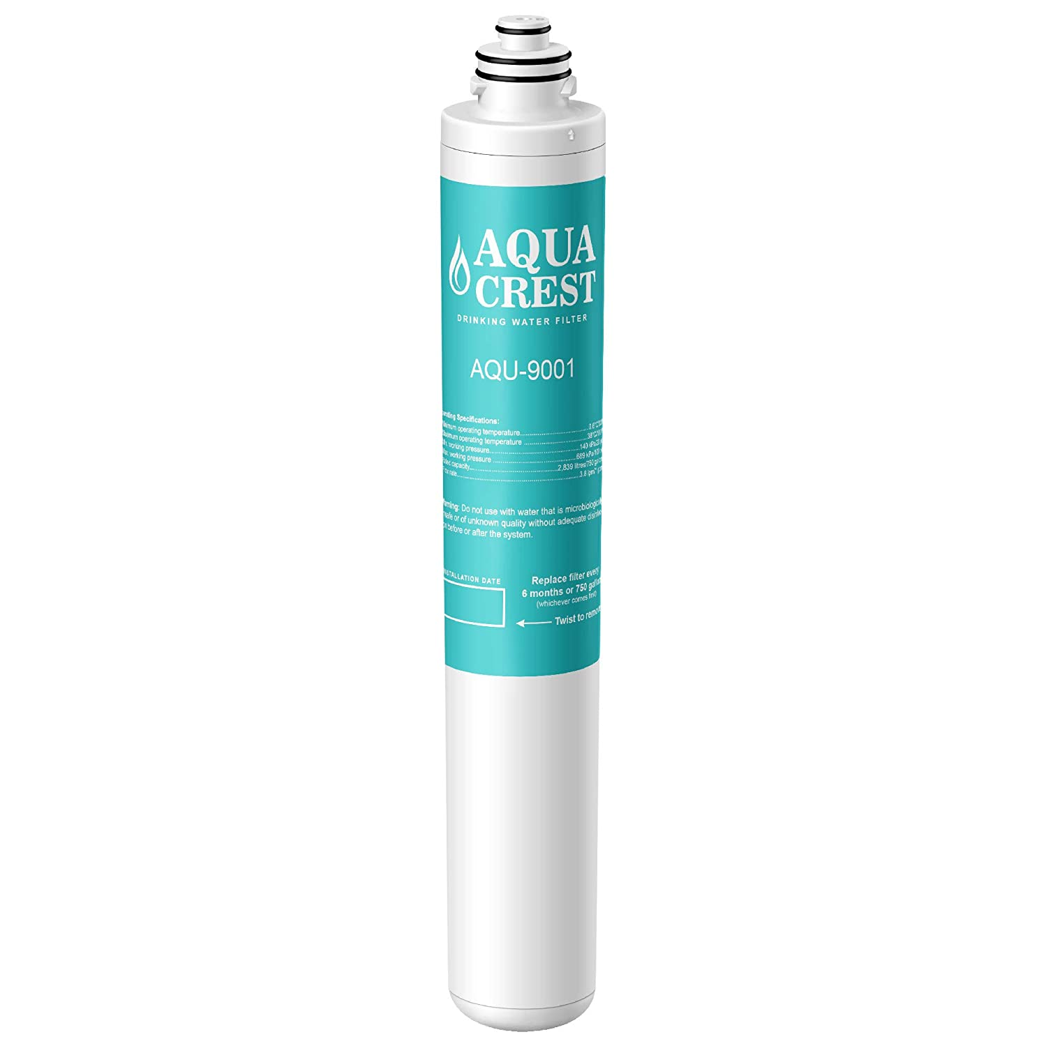 AQUACREST 9001 Under Sink Water Filter, Compatible with Moen 9001 PureTouch AquaSuite MicroTech 9000