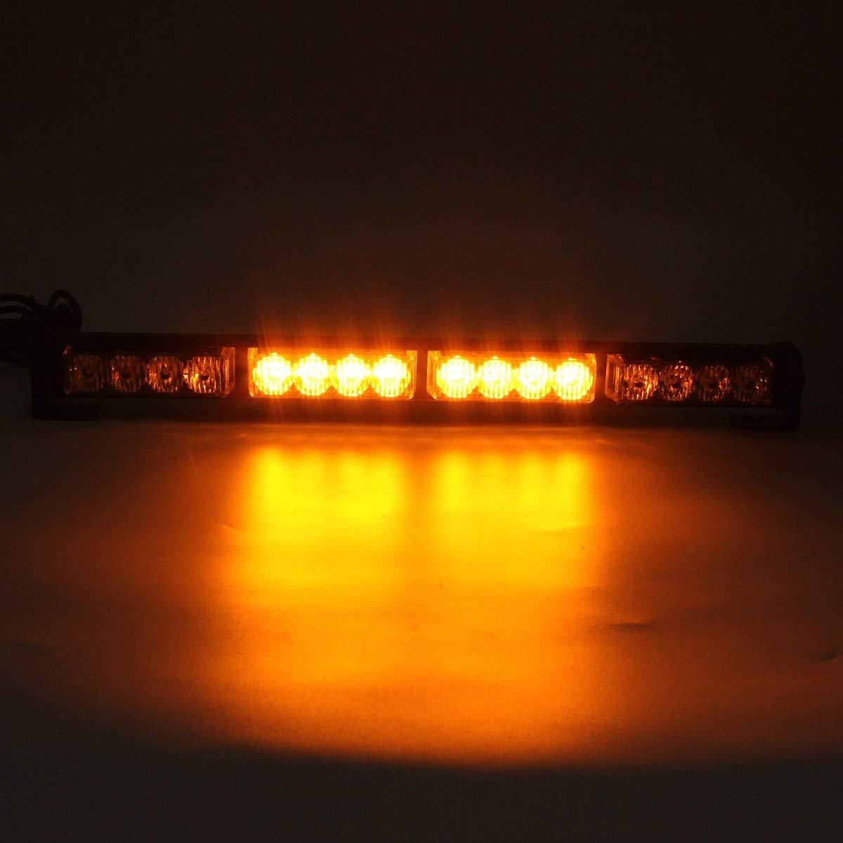 Rouge LifeUp/® 16W 4x4 LED Voyants davertissement de feux de circulation stroboscopiques Voyants davertissement clignotants durgence