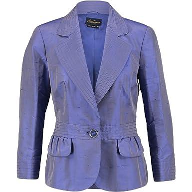 7ef2601517 LUISA SPAGNOLI Silk Jacket (Ital48, Purple ): Amazon.co.uk: Clothing