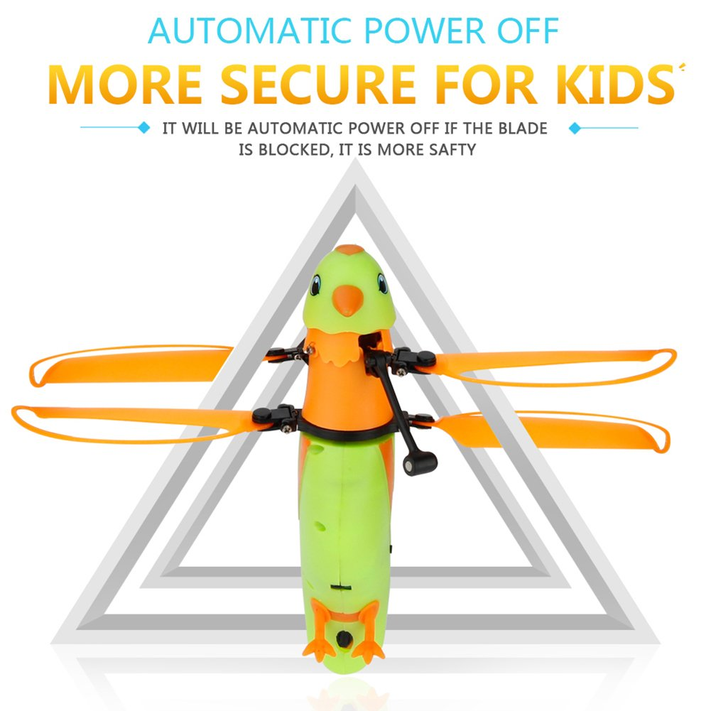 Birds Induction Aircraft With light and Bird Sounds Kids Toys by yoyoball8 Novelty & Gag Toys Induction Flying Parrot