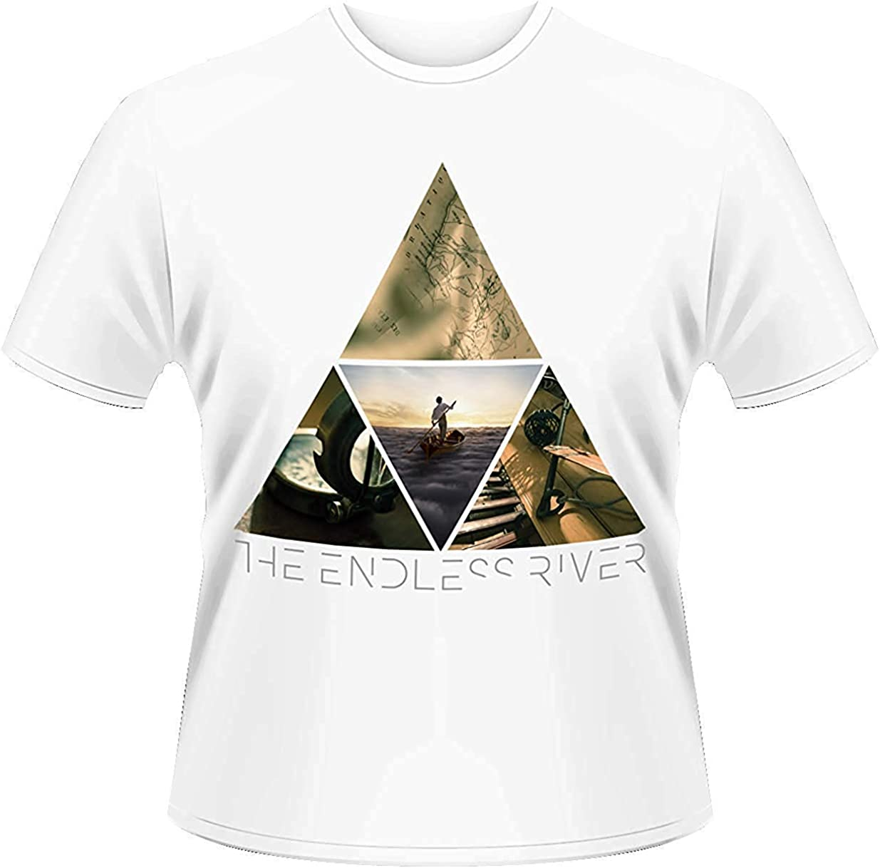 Pink Floyd - The Endless River Triángulo - Hombre Oficial T Shirt - Blanco, S