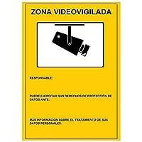 Cartel Zona Videovigilada 30x21 cm.
