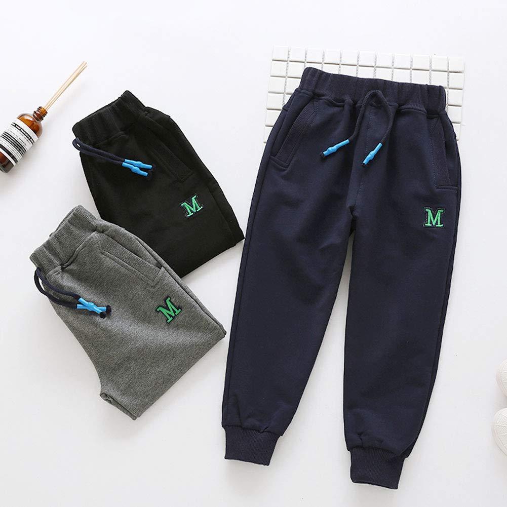 JZLPIN Unisex Kids Toddler Elastic Waist Cotton Pants Baby Bottoms Trousers