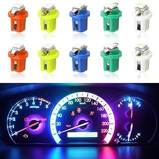 cciyu 20 Pack White Car B8.5D 1 SMD 5050 Car LED Instrument Dash Lights Wedge Side Light Bulbs