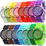 HeroNeo® Classic Womens Girls Geneva Silicone Jelly Gel Quartz Analog Sports Wrist Watch
