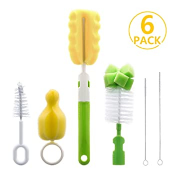 Baby Feeding Bottle Teat Nipple Cup Cleaning Bristle Brush Set Grateful Special