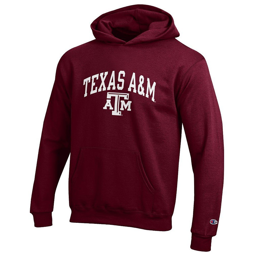 Texas A&M Aggies Maroon Red Small Ohio State Buckeyes Kids Hooded Sweatshirt Red
