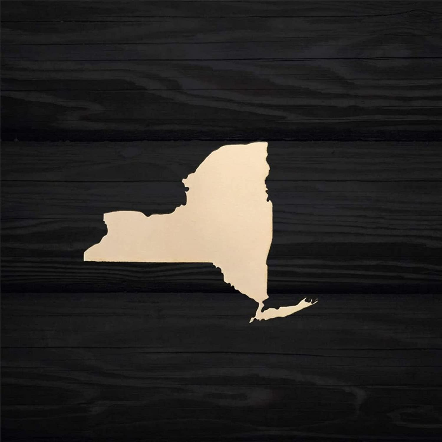ArogGeld New York State Map Silhouette Wood Craft,Unfinished Wooden Cutout Art,Inspirational Farmhouse Wall Plaque,Rustic Home Decor for Living Room,Nursery,Bedroom,Porch,Gallery Wall