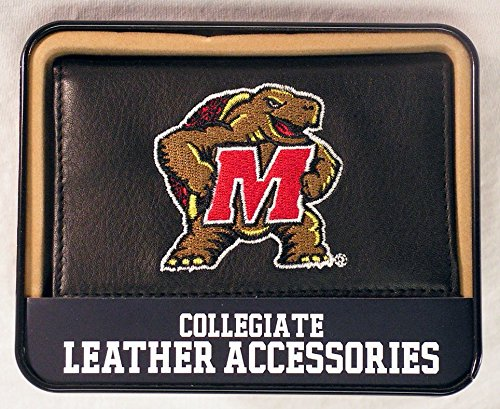 - Rico Industries NCAA Maryland Terrapins Embroidered Leather Trifold Wallet