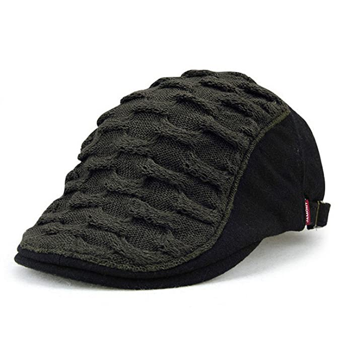 52336946e9c3d Spring Summer Wave Beret Newsboy Cap Hat for Men and Women at Amazon ...