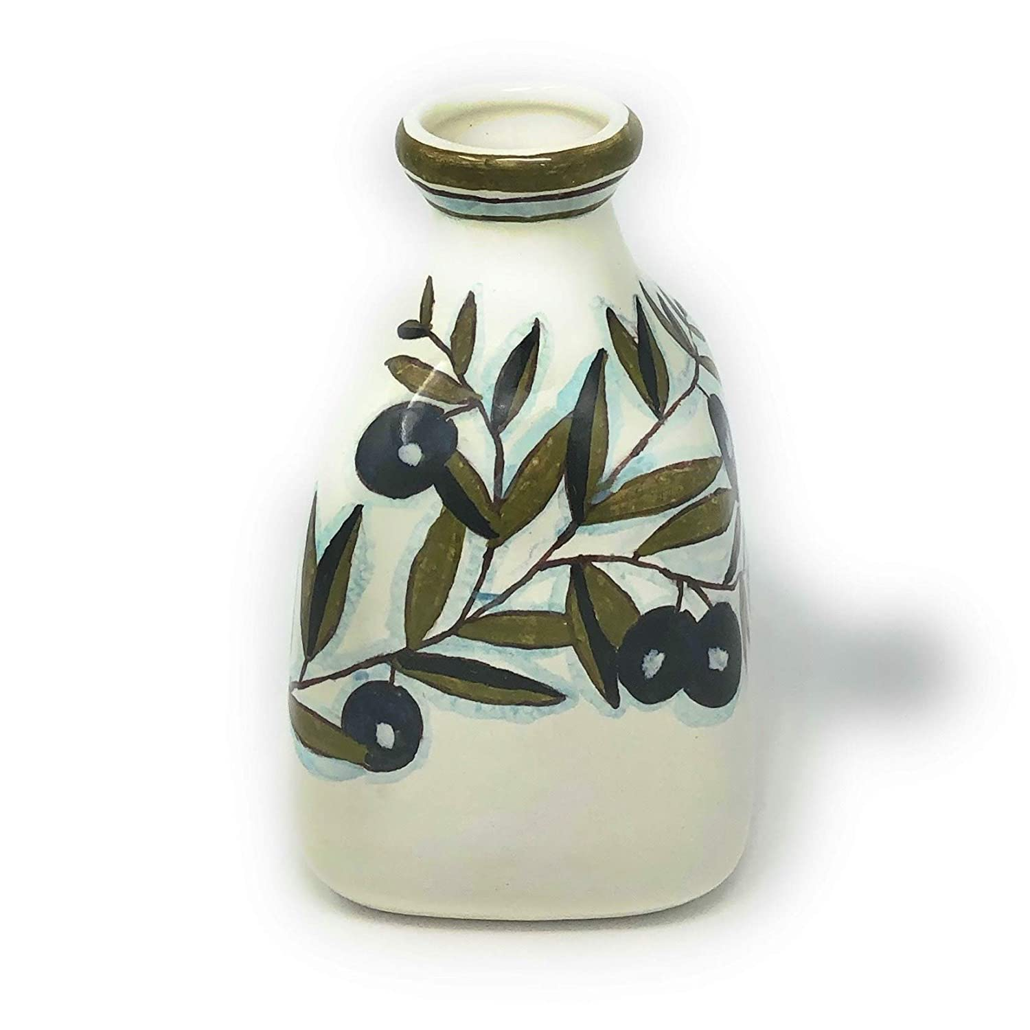 Italian Ceramic Art Herbs or Flower Vase Pottery Decorated Country Hand Painted Made in ITALY Tuscan CERAMICHE PARRINI