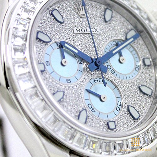 Rolex Women's 116576 Daytona Platinum Diamond Bezel Diamond Pave Dial Watch