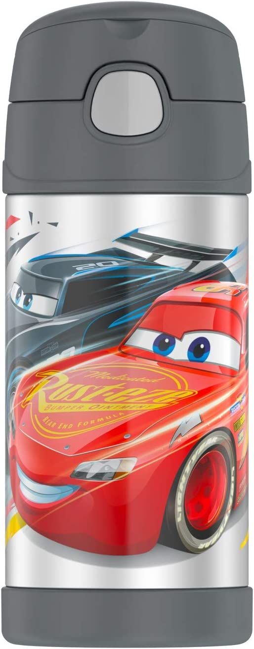 Thermos Funtainer Disney-Pixar Cars 3 Vacuum Insulated Stainless Steel Water Bottle with Straw F4018CR6