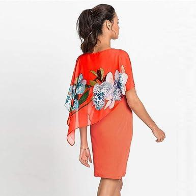 Sukienka damska, koronkowa, w kwiaty, styl boho, do kolan, letnia sukienka, okrągły dekolt, z krÓtkim rękawem, sukienka na plażę, do kolan, jednokolorowa, elegancka sukienka wieczorowa w stylu vi