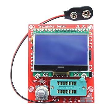 TOOGOO M328 Multifuncion Transistor Probador Resistencia Capacitancia del Diodo Resistencia Medidor Frecuencia Senal Generador Rojo: Amazon.es: Electrónica