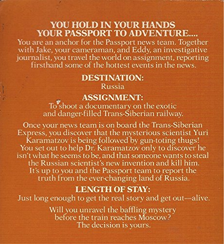 Mystery on the Trans-Siberian Express By Ken McMurtry (PASSPORT, THE NEWS TEAM THAT COVERS THE WORLD)