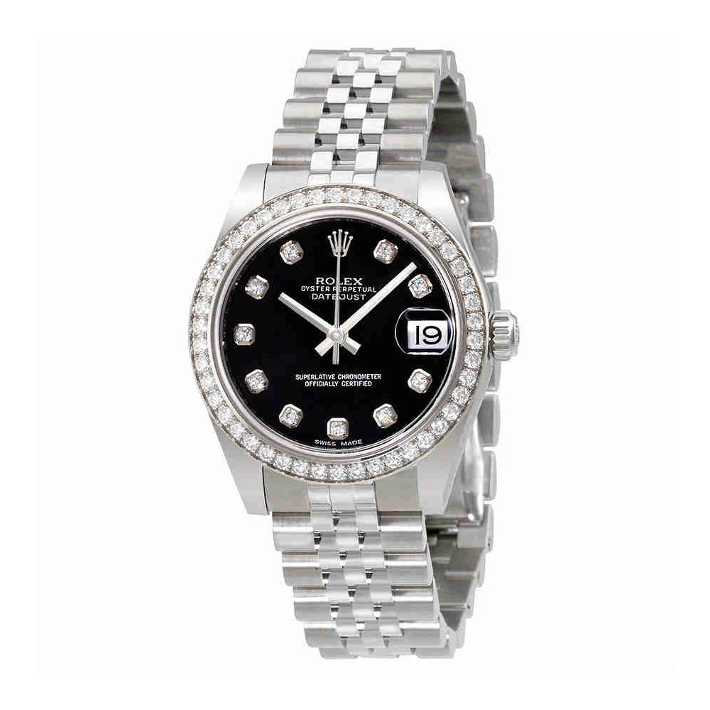 a882ea33bf72 Amazon.com  Rolex Datejust Lady 31 Black Dial Stainless Steel Rolex Jubilee Automatic  Watch 178384BKDJ  Watches