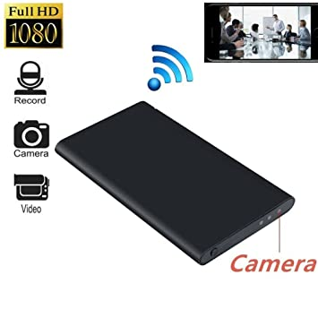 WiFi Cámara HD 1080P con Power Bank TKSTAR cámaras de vigilancia Super Thin portátil oculto Spy