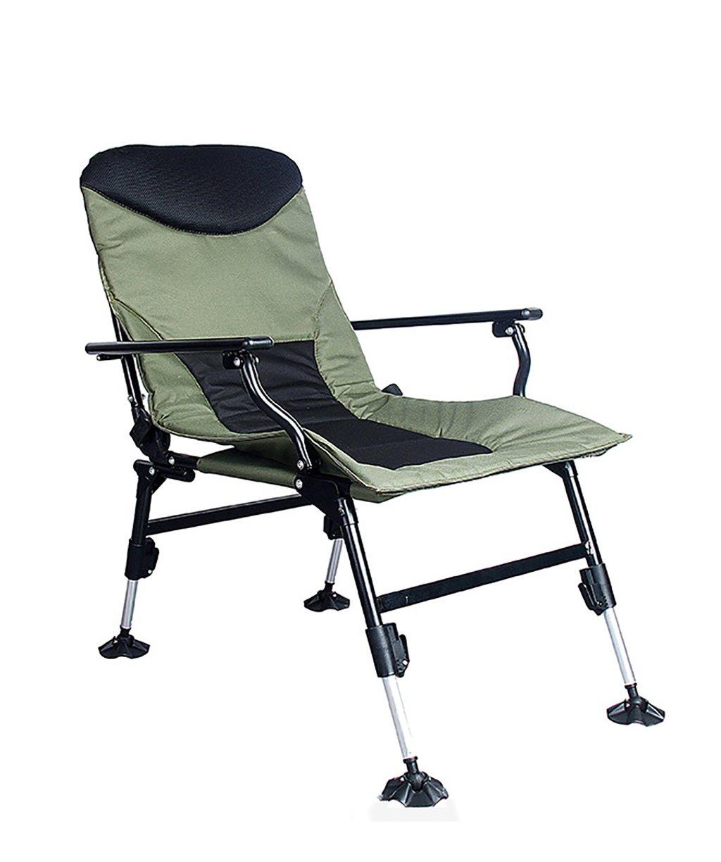 LIQICAI 釣り椅子 快適な折りたたみ式のキャンプチェアProfessiona釣りチェア調節可能な脚付きワイドベッドチェアデュアルユース チェア B0792YNDRP