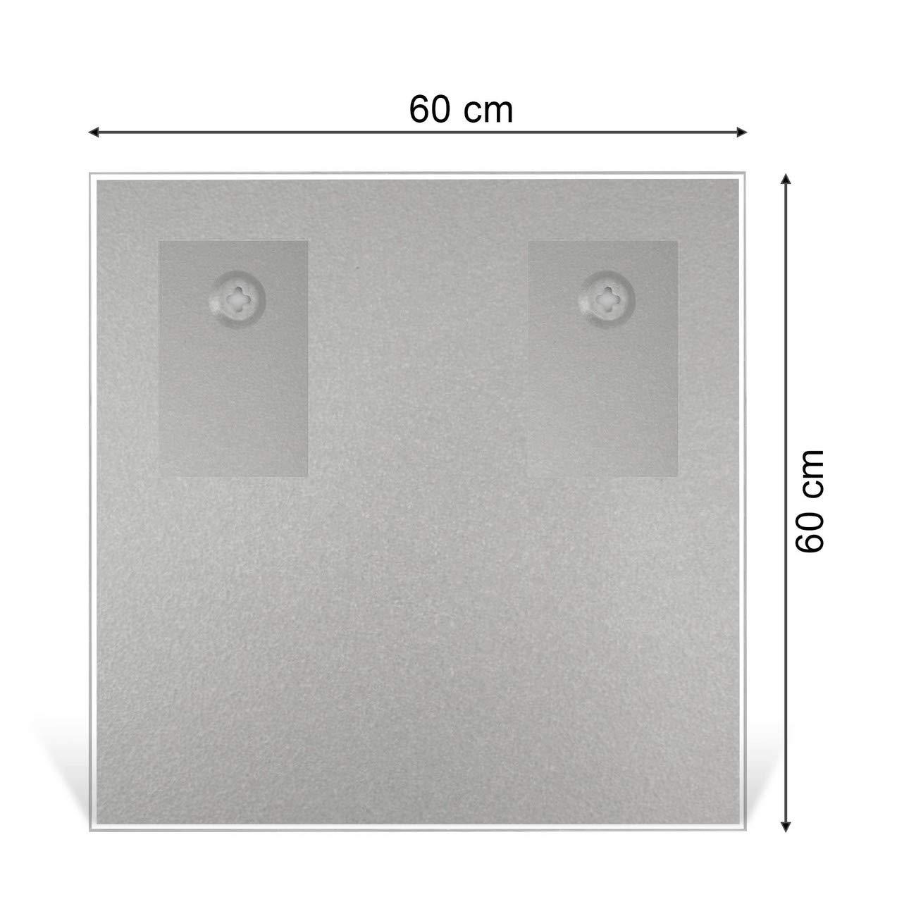 Glastafel mit Motiv Salomon Memoboard mit 4 Magneten BANJADO Glas Magnettafel beschreibbar 50 x 50 cm gro/ß Pinnwand aus Glas magnetisch Glas Magnettafel