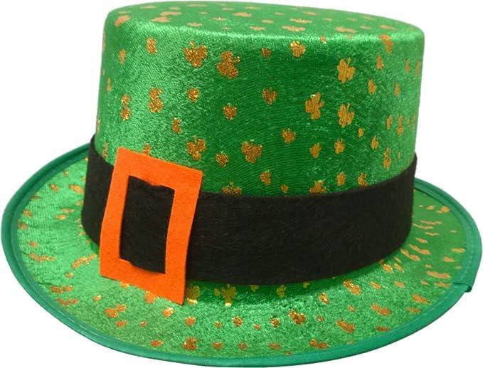 3dfc8b3c971ce Amazon.com  Saint Patricks Day Green Shamrock Leprechaun Top Hat Costume  Accessory  Clothing