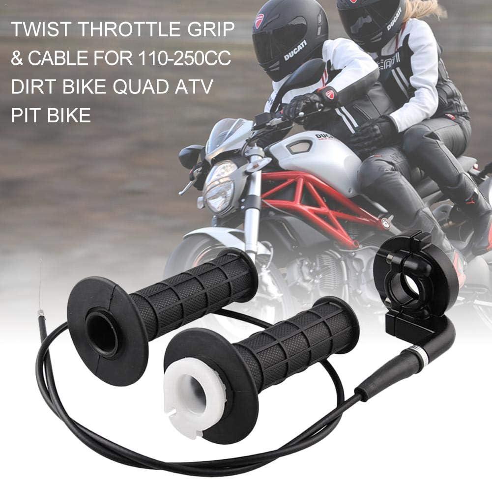 Blue-Yan Motocross Twist Gasgriff Universal f/ür 7//8 110-250CC mit Gaszug Beschleunigungsgriff Schwarz