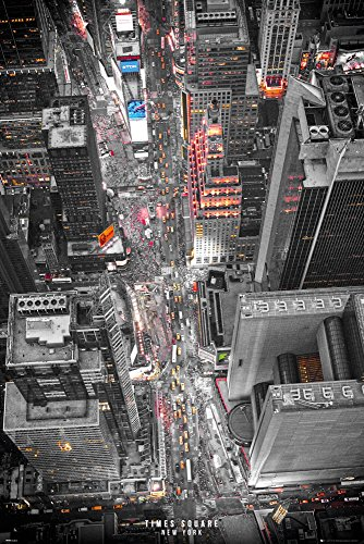 New York Times Square Lights Poster