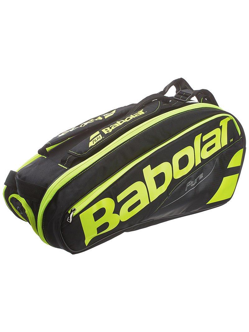 Babolat Pure Tennis Racquet Holder x6, Black/Yellow