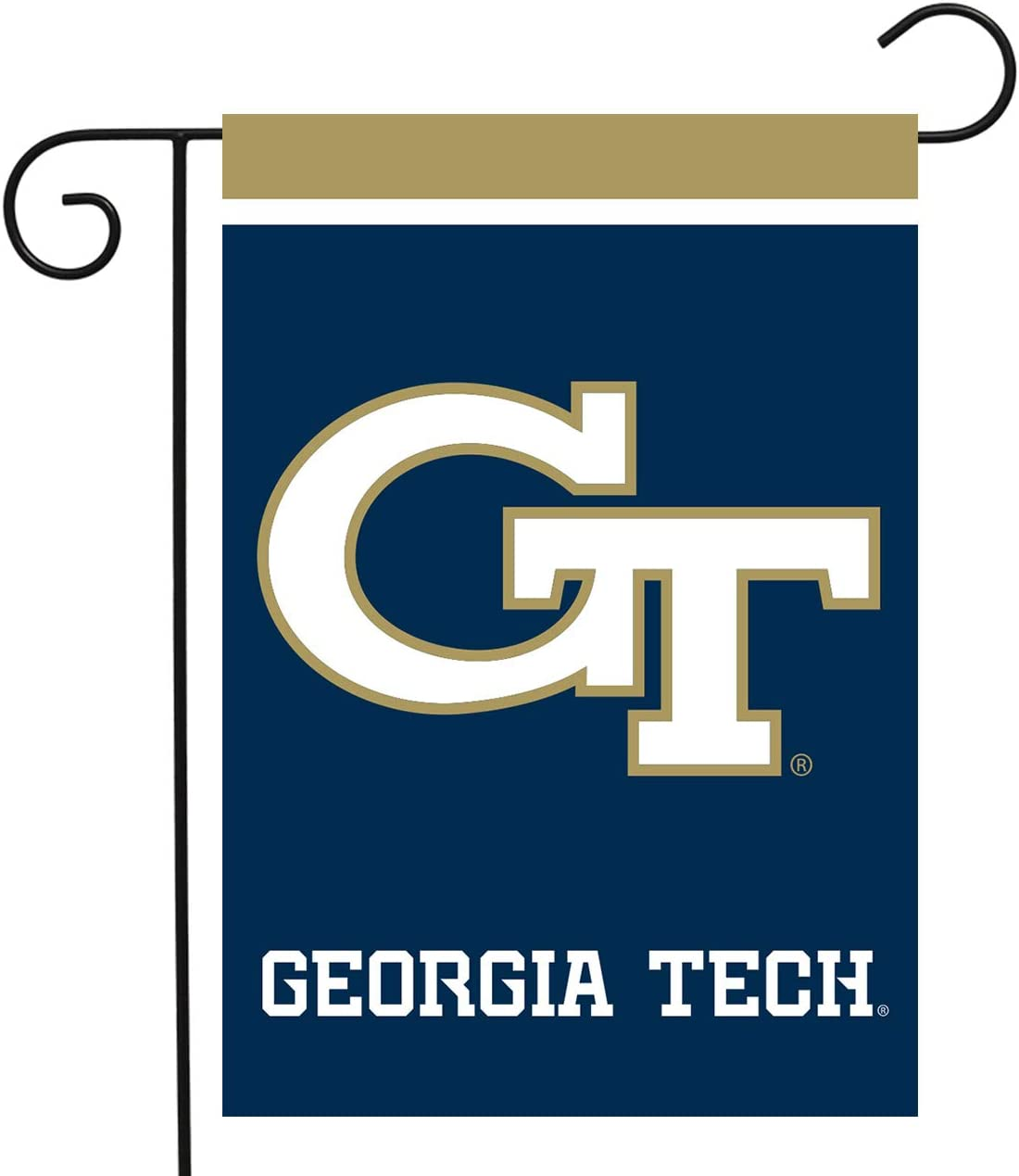 "Briarwood Lane Georgia Tech Yellow Jackets Garden Flag NCAA Licensed 12.5"" x 18"""