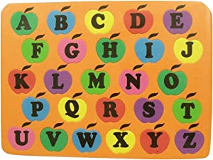 Kingsbridge Educational Foam Puzzle ~ Alphabet of Apples (Uppercase; Colors May Vary)