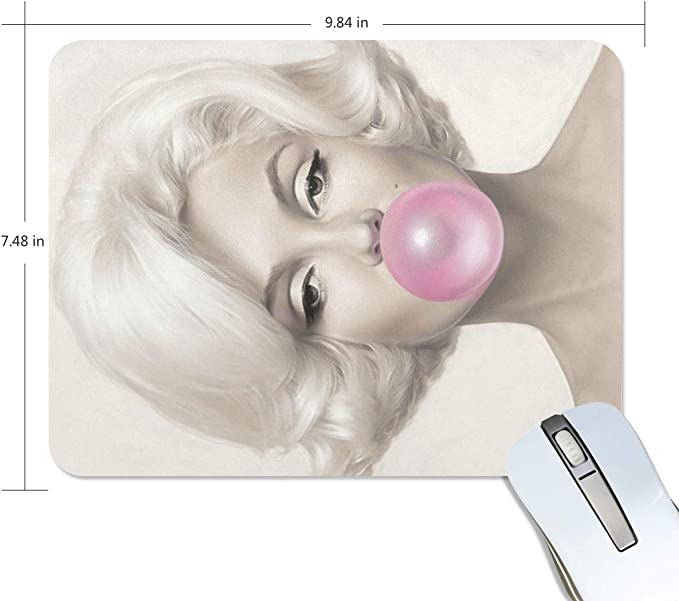Marilyn Monroe Rectangle Non-Slip Rubber Mousepad Gaming Mouse Pad 7.48X9.84 Inch