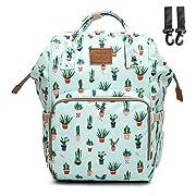 Sunborls(AHONG) Cactus Waterproof Mummy Maternity Nappy Bag Travel Backpack Baby Nursing Bags (Green Cactus)