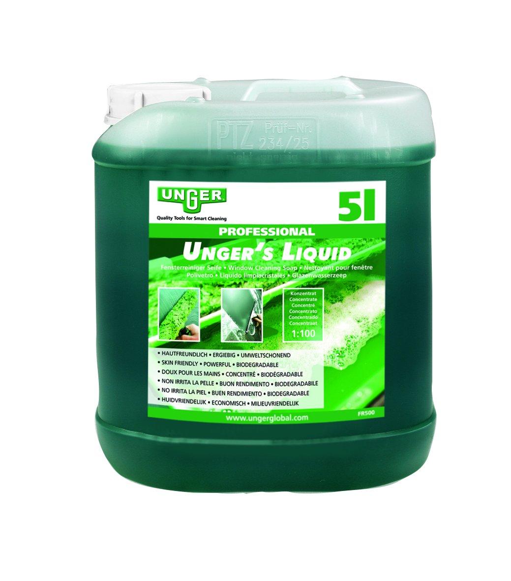 Unger FR500 Liquido Limpiador de Cristales, 5 L
