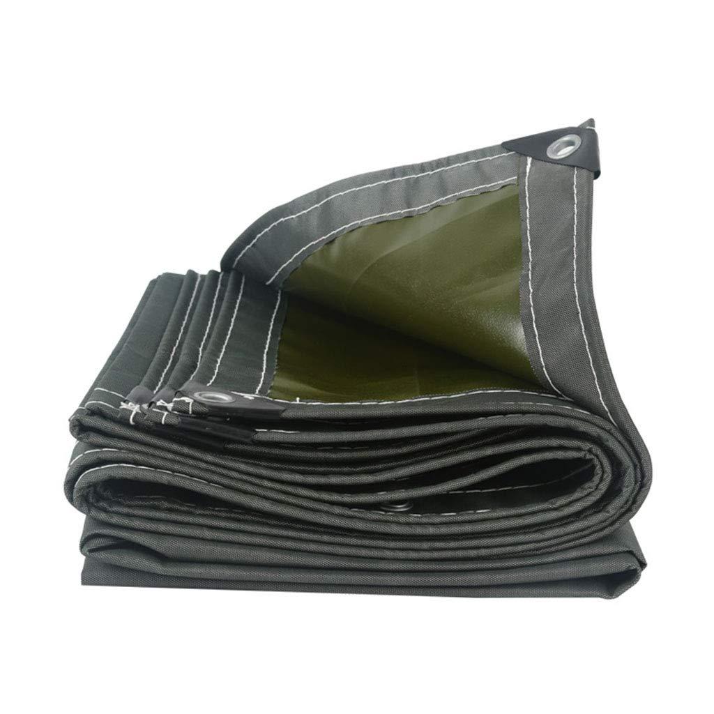 YX-Planen Dicke, Starke, graue Plane Reversible Waterproof Heavy Duty - 100% wasserdicht und UV-geschützt - Dicke 0,8 mm, 650 g m²
